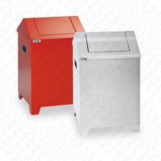 Poubelle acier V1 - 73 litres