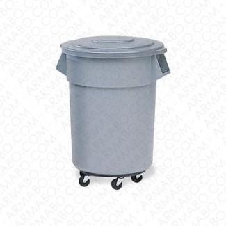 Conteneur à déchets blanc - 75 litres