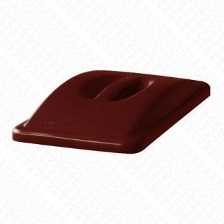 Couvercle poign e marron pour conteneur tri s lectif - Couvercle pour poubelle automatique ...