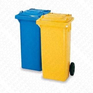 Conteneur à déchets bleu 2 roues - 240 litres