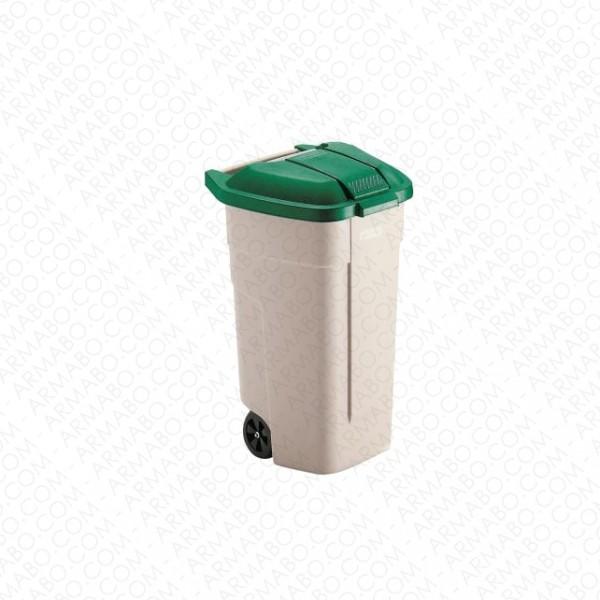 conteneur d chets vert 2 roues 100 litres conteneurs et poubelles armabo. Black Bedroom Furniture Sets. Home Design Ideas