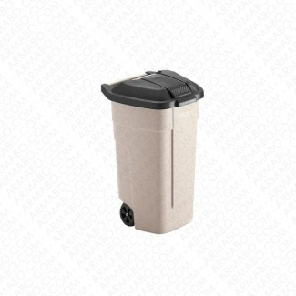 Conteneur à déchets noir 2 roues - 100 litres
