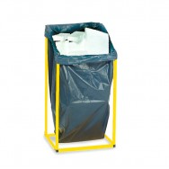 Support sac 240 litres argent