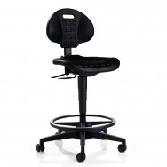Siège assis debout mobile avec dossier réglable - Polyuréthane