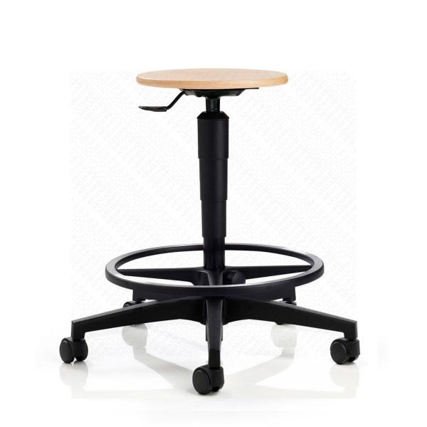 tabouret d 39 atelier mobile haut boisintitul sous cat. Black Bedroom Furniture Sets. Home Design Ideas