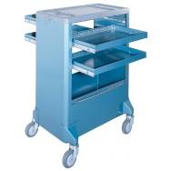 Servante à rideaux - 4 tiroirs télescopiques