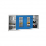 Armoire atelier à portes coulissantes transparentes S3