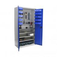 Armoire haute Armabo - Porte-outils + 30 bacs