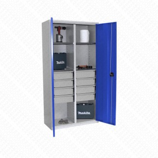 Armoire haute forte charge Armabo - 8 tiroirs