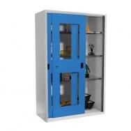 Armoire atelier à portes coulissantes transparentes XL3