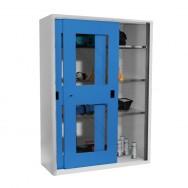 Armoire atelier à portes coulissantes transparentes XXL1