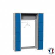 Vestiaire penderie 8 cases larges Armabo