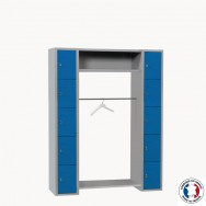 Vestiaire penderie 10 cases larges Armabo
