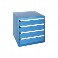Armoire à tiroirs JET - 4 tiroirs identiques de 11 compartiments