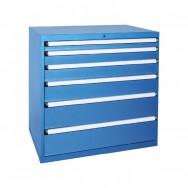 Armoire à tiroirs HUB - 6 tiroirs renforcés de 15 compartiments