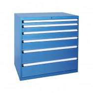 Armoire à tiroirs HUB - 6 tiroirs renforcés de 24 compartiments