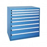 Armoire à tiroirs HUB - 8 tiroirs renforcés de 24 compartiments